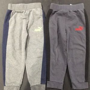 2 puma skinny joggers toddler boys size 4 bundle